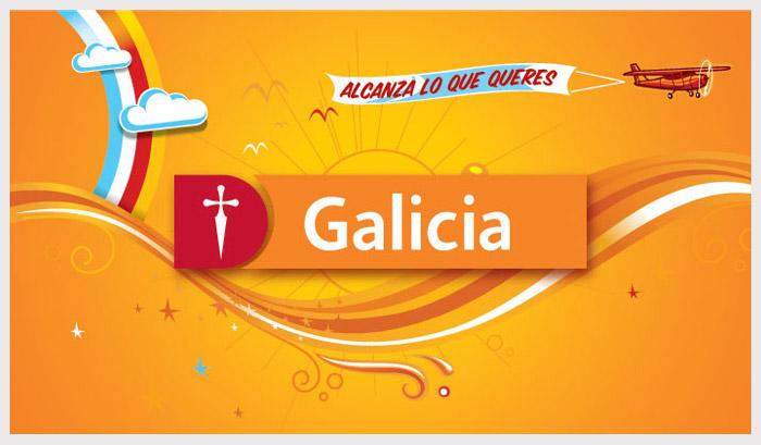 Nueva imagen banco galicia por cuna estudio for Buscador de sucursales banco galicia